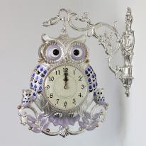 (kspz266)왕대박 부엉이 양면시계 (은블루)