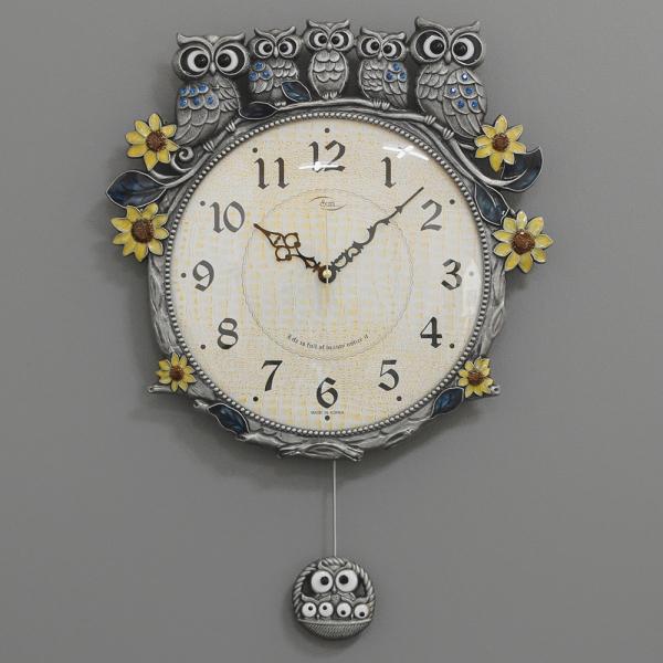 (kspz270)저소음 해바라기부엉이시계 주석