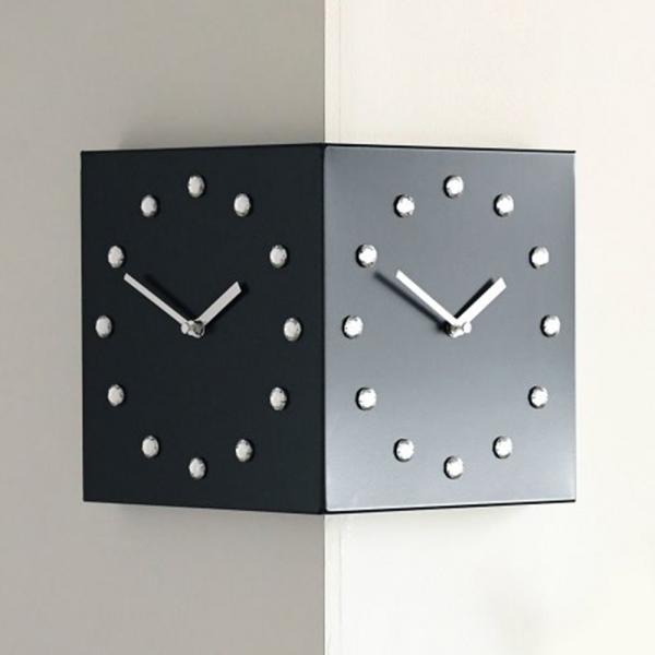 (ktk131)크리스탈 코너 시계 (블랙)