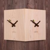 (ktk136)편백나무 통원목 코너시계(무소음)