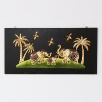 (kcjg044)재물 코끼리 그림액자(80x40)