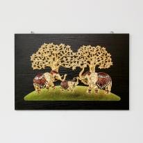 (kcjg043)재물 코끼리 그림액자(60x40)