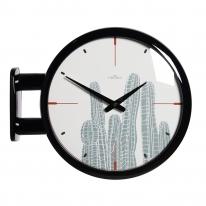 (ktk142)심플 블랙양면시계 (선인장)