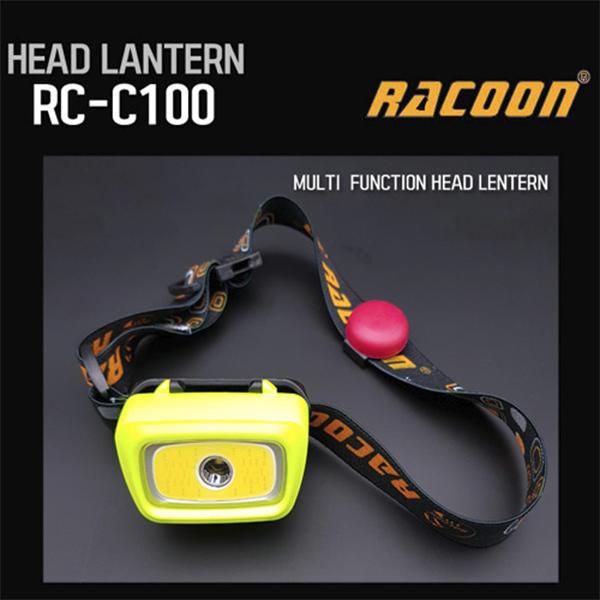 RC-C100 RACOON 라쿤 헤드랜턴 RC-C100 캠핑용 헤드렌턴 건전지타입