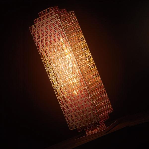 트러스 플로어 램프 스탠드(4등)