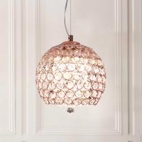 LED 크리스탈 헤즐넛 펜던트등 로즈골드