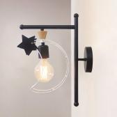 LED 뉴문 벽등 - 블랙/화이트 스타