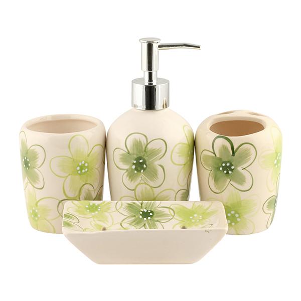 그린꽃 욕실용품 4종 세트