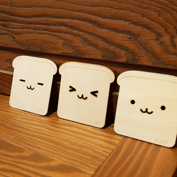 식빵 컵받침(디자인 랜덤발송)