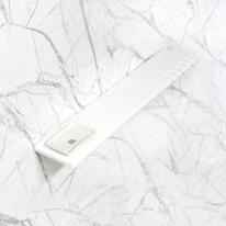 베키 화이트 인조대리석 다용도 욕실일자선반-BT