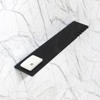 베키 블랙 인조대리석 다용도 욕실일자선반-BT