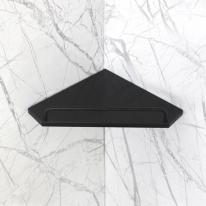 베키 블랙 인조대리석 오각 욕실코너선반 A형-BT