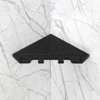 베키 블랙 인조대리석 오각 욕실코너선반 B형-BT