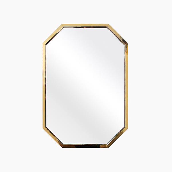 엘리 팔각 거울(스테인레스 프레임)-BT