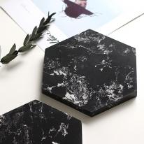 육각 인조대리석 마블트레이 150x150mm(네로마퀴나)