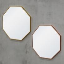 밀리 정팔각 무광 거울(골드/로즈골드)