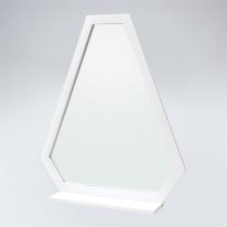 트라이앵글 원목 선반형 거울(화이트)