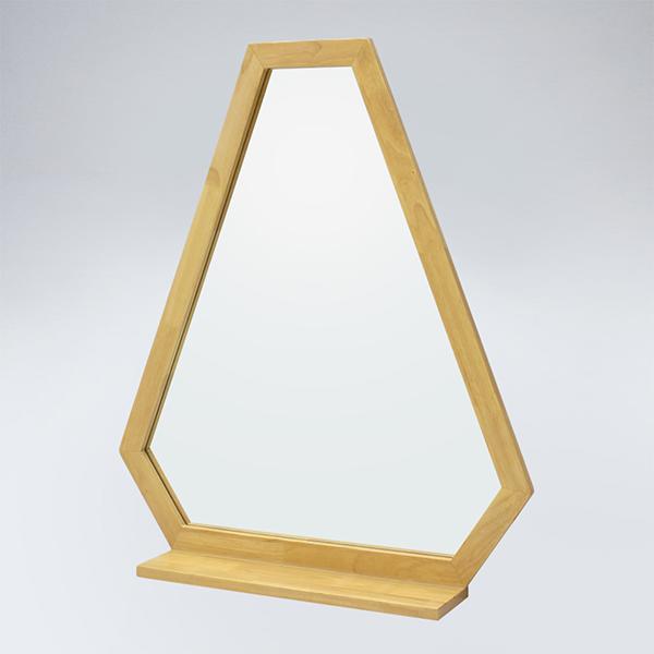 트라이앵글 원목 선반형 거울(메이플)