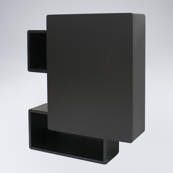 알도르 원목 욕실장(블랙)