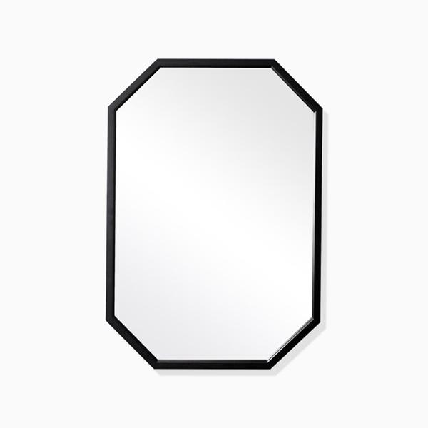 엘리 블랙 팔각거울(스테인레스 프레임)-BT