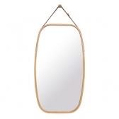 대나무 스트랩 세미 스퀘어 거울(네츄럴)