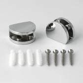 원형 장석(선반부속품/2개1세트) 강화유리 욕실선반용