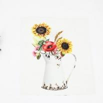 DTP 옥스포드컷트지]꽃병해바라기(d0089-3)