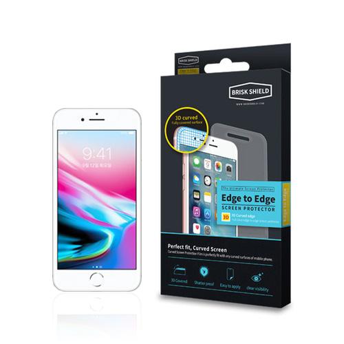 브리스크쉴드 아이폰 8 Plus 충격흡수 3D풀커버 프리미엄 액정보호필름