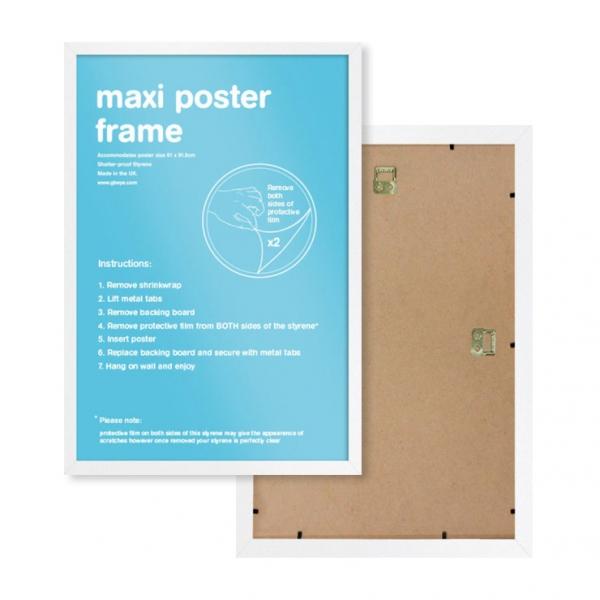 GBeye 정품 포스터 프레임 61x90 액자 (화이트)