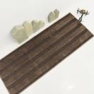 벌키라인 샤기 주방매트 브라운 45x120