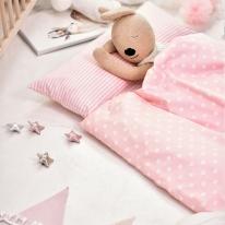 파스텔 핑크 일체형 낮잠이불