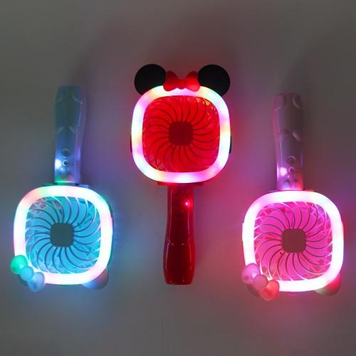 접이식 LED 리틀캣 충전식 핸디 선풍기 ver.2