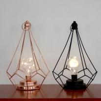 철재 다각뿔 와이어 전구 무드 램프 조명 NL103