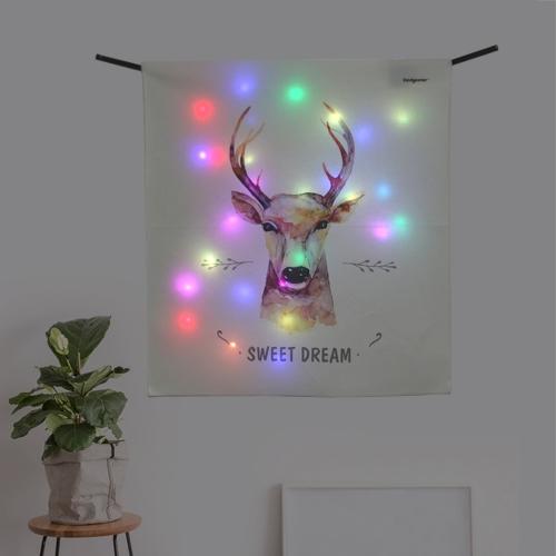타이포 디어 LED 패브릭 액자 포스터 커튼 벽트리 (90x100cm)
