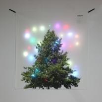 기본트리 LED 패브릭 액자 포스터 커튼 벽트리 (90x100cm)