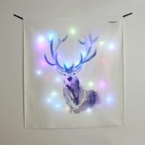 블루디어 LED 패브릭 액자 포스터 커튼 벽트리 (90x100cm)