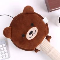 브라운베어 USB 온열 마우스패드 & 손목쿠션