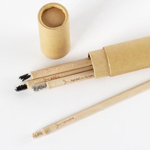 세련된 지관필통 + 재미있는 씨앗연필3개가 한세트!