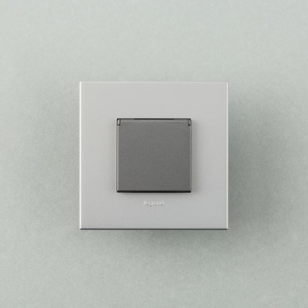 아테오 유럽형 커버콘센트 1구 (3color)