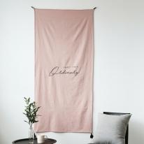 오디너리 자수 가리개커튼 핑크