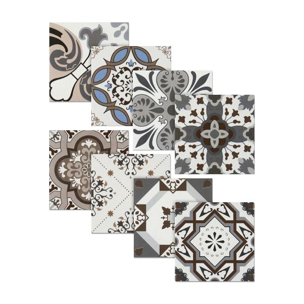 북유럽 무비스타일 랜덤8종 패턴타일(200X200)/박스판매