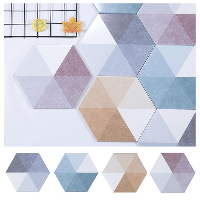 헥사곤 육각타일(200x230)큐브-블라썸 29장(약1㎡)자기질 무광 타일(벽,바닥 사용/박스판매)