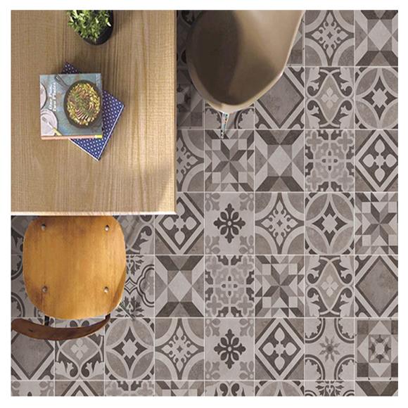[타일닷컴]북유럽 패턴타일 200x200 빈티지 패턴 14종 랜덤 30장-1.2㎡