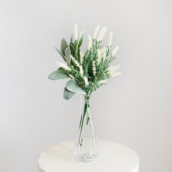 코트니 라벤더 조화 꽃다발