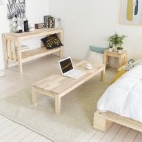 좌식테이블 1600x450 식탁 다용도 멀티테이블 슬림테이블 보조 베드테이블 침실 예쁜책상 아카시아 원목