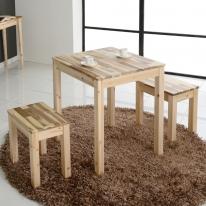 아카시아 원목 2인 부부테이블 세트 식탁 티 테이블 카페테이블 콘솔 거실테이블 예쁜책상