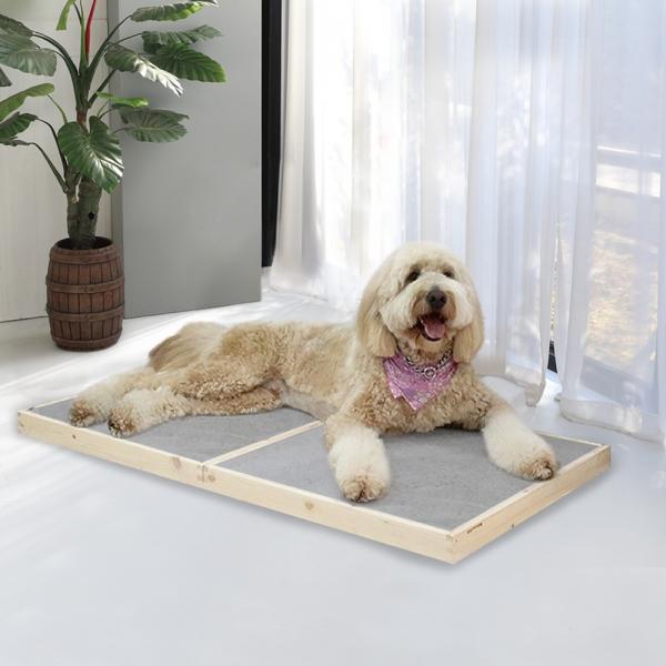강아지쿨매트 애견 쿨방석 반려동물 고양이 원목 침대 아이스 자체제작