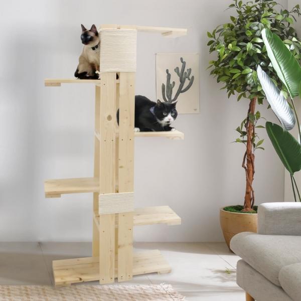 5단 원목 캣타워 DIY 켓타워 캣워크 고양이장난감