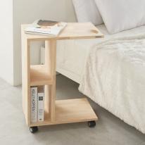 이동식 보조 테이블 노트북 책상 좌식테이블 고무나무