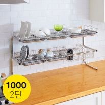 물빠짐식기건조대 설거지 주방선반 업소용 1000-2단